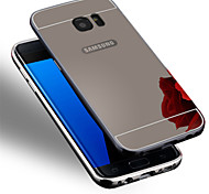 New Plating Mirror Back with Metal Frame Phone Case for Samsung Galaxy S7/S7 edge/S6/S6 edge/S6 edge+
