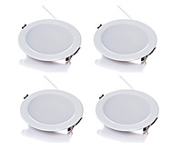 4pcs/lot 5W Wireless AC 220V Dimmable LED Downlights Warm White / Cool White LED Panle Light White Shape