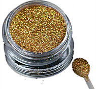 1 Bottle Nail Art Laser Gold Glitter Shining Powder Manicure Decoration Nail Beauty L01