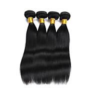 Натуральные волосы Индийские волосы Человека ткет Волосы Прямые Наращивание волос 4 предмета Естественный цвет