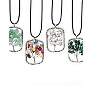 Женский Ожерелья с подвесками павлин Синтетические драгоценные камни Нержавеющая сталь Мода Бижутерия Назначение Повседневные