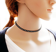 Necklace Choker Necklaces Tattoo Choker Jewelry Daily Casual Tattoo Style Sexy Fashion Lace Fabric 1pc Gift Black-White