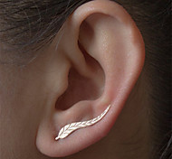 cheap -Women's Leaf Stud Earrings - Natural Balance of the Power Fashion Silver Golden Leaf Earrings For Daily Casual