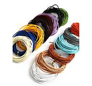Недорогие -beadia 5mts 1.5mm круглый кожаный шнур& провод& Строка (14 цветов)