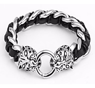 Kalen®Personalized Jewerly Fashion Bracelets Men's 316 Stainless Steel Tiger Heads Bracelets