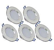 3W LED даунлайт 270 lm Тёплый белый / Холодный белый SMD 5730 AC 85-265 V 5 ед.