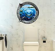 Недорогие -3D Наклейки Простые наклейки / 3D наклейки Декоративные наклейки на стены,PVC материал Съемная Украшение дома Наклейка на стену