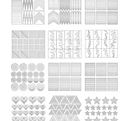 21 Patterns Nail Art Tips Guide French Manicure DIY Stickers Stencil Strip Nail Guides Nail Tools