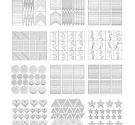 Стикер искусства ногтя DIY прессформы макияж Косметические Ногтевой дизайн
