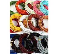 Недорогие -beadia 5 мтс 2мм круглый кожаный шнур& провод& Строка (15 цветов)