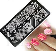 1pcs  New Nail Art Stamping Plates Colorful Image Templates Tools Nail Beauty XY-J12