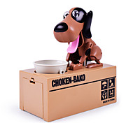 cheap -Choken Bako Bank Coin Bank / Money Bank Stealing Coin Bank Saving Money Box Case Piggy Bank Robot Dog Toys Novelty Dog ABS 1 Pieces