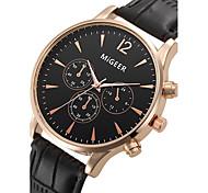 preiswerte -Herrn Quartz Armbanduhr Cool / Armbanduhren für den Alltag Leder Band Modisch Schwarz