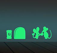 Недорогие -Отдых Наклейки Светящиеся наклейки Декоративные наклейки на стены,vinyl материал Съемная Украшение дома Наклейка на стену