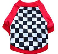 Gatti / Cani T-shirt Rosso / Nero Abbigliamento per cani Estate / Primavera/Autunno Geometrico Di tendenza