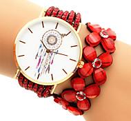 Women's Fashion Watch Bracelet Watch Quartz Casual Watch Plastic Band Black White Blue Red Purple