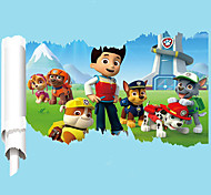 3D United States Cartoon Dog PAW Patrol 3D Wall Stickers DIY Fashion Children's Bedroom Wall Decals