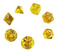 Недорогие -Игральные кости Набор полиэдрических кубиков Игрушки утонченный Акрил 7 Куски Подарок