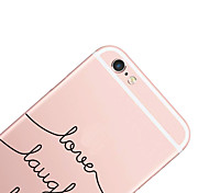 cheap -Case For Apple iPhone X iPhone 8 iPhone 6 iPhone 6 Plus Pattern Back Cover Word / Phrase Hard PC for iPhone X iPhone 8 Plus iPhone 8