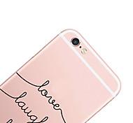Недорогие -Кейс для Назначение Apple iPhone X iPhone 8 iPhone 6 iPhone 6 Plus С узором Кейс на заднюю панель Слова / выражения Твердый ПК для iPhone
