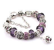 cheap -Men's Women's Stainless Steel Chain Bracelet Charm Bracelet - Friendship Festival / Holiday Fashion Circle Jewelry Purple Bracelet For