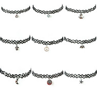 Women's Choker Necklaces Tattoo Choker Nylon Alloy Tattoo Style Fashion Costume Jewelry Jewelry For Daily Casual