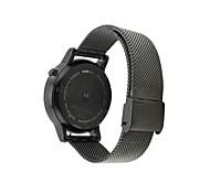 Недорогие -Черный / Серебристый Нержавеющая сталь Классическая застежка Для Motorola Смотреть 42мм / 46мм