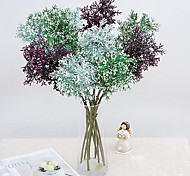 cheap -1 Branch Polyester Plastic Plants Tabletop Flower Artificial Flowers