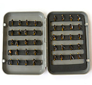 cheap -Anmuka 40pcs/lot Fly Fishing Lure Set Single Hook Artificial Insect Bait Trout Fly Fishing Hooks Tackle With Plastic Box