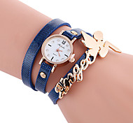 Women's Fashion Watch Bracelet Watch Casual Watch / Quartz PU Band Cool Casual Black White Blue Red Orange Brown Green Yellow