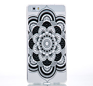TPU Material Black Full Flower Pattern Cellphone Case for Huawei P9Lite/P9/P8Lite