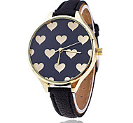 Women/Lady's Full Heart Case Thin Leather Band Analog Quartz Fashion Dress Casual Watch Strap Watch