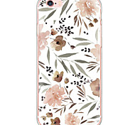 cheap -Case For Apple iPhone X iPhone 8 iPhone 6 iPhone 6 Plus Dustproof Shockproof Pattern Back Cover Flower Hard PC for iPhone X iPhone 8 Plus