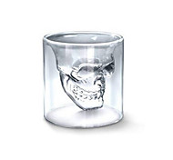 cheap -Cool Transparent Creative Scary Skull Head Design Novelty Drinkware Wine Shot Glass Cup 150ML