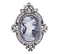 broches de plata antiguo partido de la vendimia broche pines joyas de la reina diamantes de imitación de cristal de diamante de la moda de