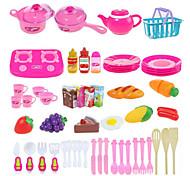 Недорогие -Игрушка кухонные наборы Детская техника Кулинария Ролевые игры Игрушки Овощи Фрукт Своими руками ABS 54 Куски