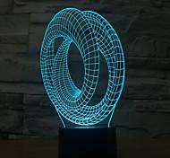 Недорогие -абстрактное прикосновение dimming 3d led night light 7colorful украшение атмосфера лампа новинка освещение свет