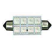 2x зеленый 42mm 5050 8-SMD гирлянда купол карту интерьер привело лампочку 211-2 578 569