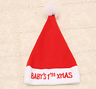 1шт красный вышитый младенца Xmas слова рождества шляпа принадлежности новый год колпак партии