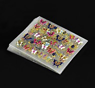 3D Nail Sticker 24Pcs in 1 Large Size Sheet Moon Butterfly Animal Pattern For Stamping Charms Bronzing Nail Art Decal