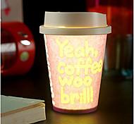 1шт случайный цвет творческой паб КТВ окружающей среды Dixie чашки водить ночью свет лампы водить Drinkware
