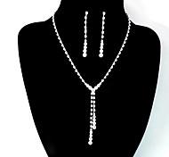 Свадебные комплекты ювелирных изделий Мода Духовное развитие Серебряный Ожерелья Серьги Для Свадьба Для вечеринок Повседневные 1 комплект
