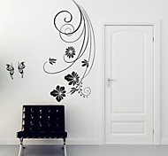 Недорогие -Цветы Наклейки Простые наклейки Декоративные наклейки на стены,PVC материал Съемная Украшение дома Наклейка на стену