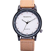 REBIRTH® Men's Fashion Design Simple PU Leather Strap Quartz Wrist Watch Casual Watch Dress Watch