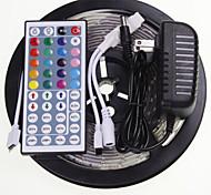 5M 16.4ft Waterproof RGB 300x5630 SMD LED  Flexible LED Light Strips +  44 Key IR 12V 2A Power Supply AC100-240V