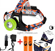 U'King ZQ-X8001 Headlamps Headlamp Straps Headlight LED 2000 lm 3 Mode Cree XM-L T6 Adjustable Focus Rechargeable Compact Size High Power