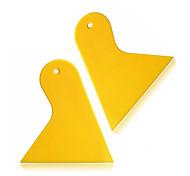 ziqiao 2pcs / комплект треугольник пластиковый ракель скребок авто окно виниловая пленка установить скребковые инструменты