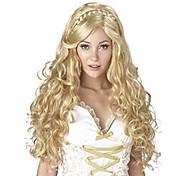 Недорогие -Парики из искусственных волос Естественные кудри Африканские косички Парик с косичками Без шапочки-основы Жен. Блондинка Карнавальный