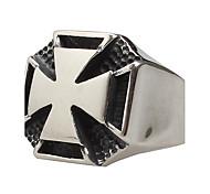 Муж. Массивные кольца Мода бижутерия Титановая сталь Крестообразной формы Бижутерия Назначение Для вечеринок Повседневные