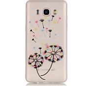 Dandelion TPU Material Glow in the Dark Soft Phone Case for Samsung Galaxy J110/J310/J510/J710/G360/G530/I9060